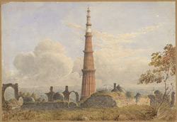 The Kutb Minar, near Delhi
